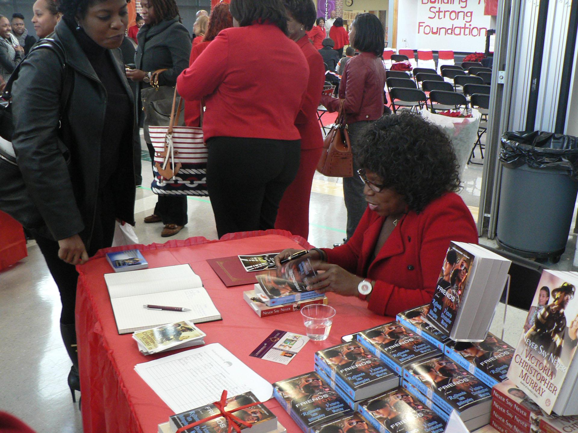 Red Carpet Showcase event highlighting authors, artist