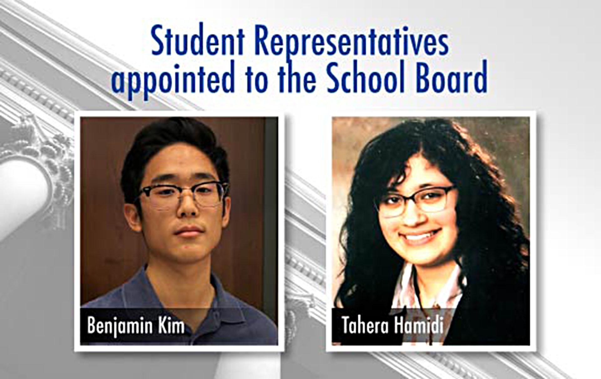 County School Board student representatives chosen