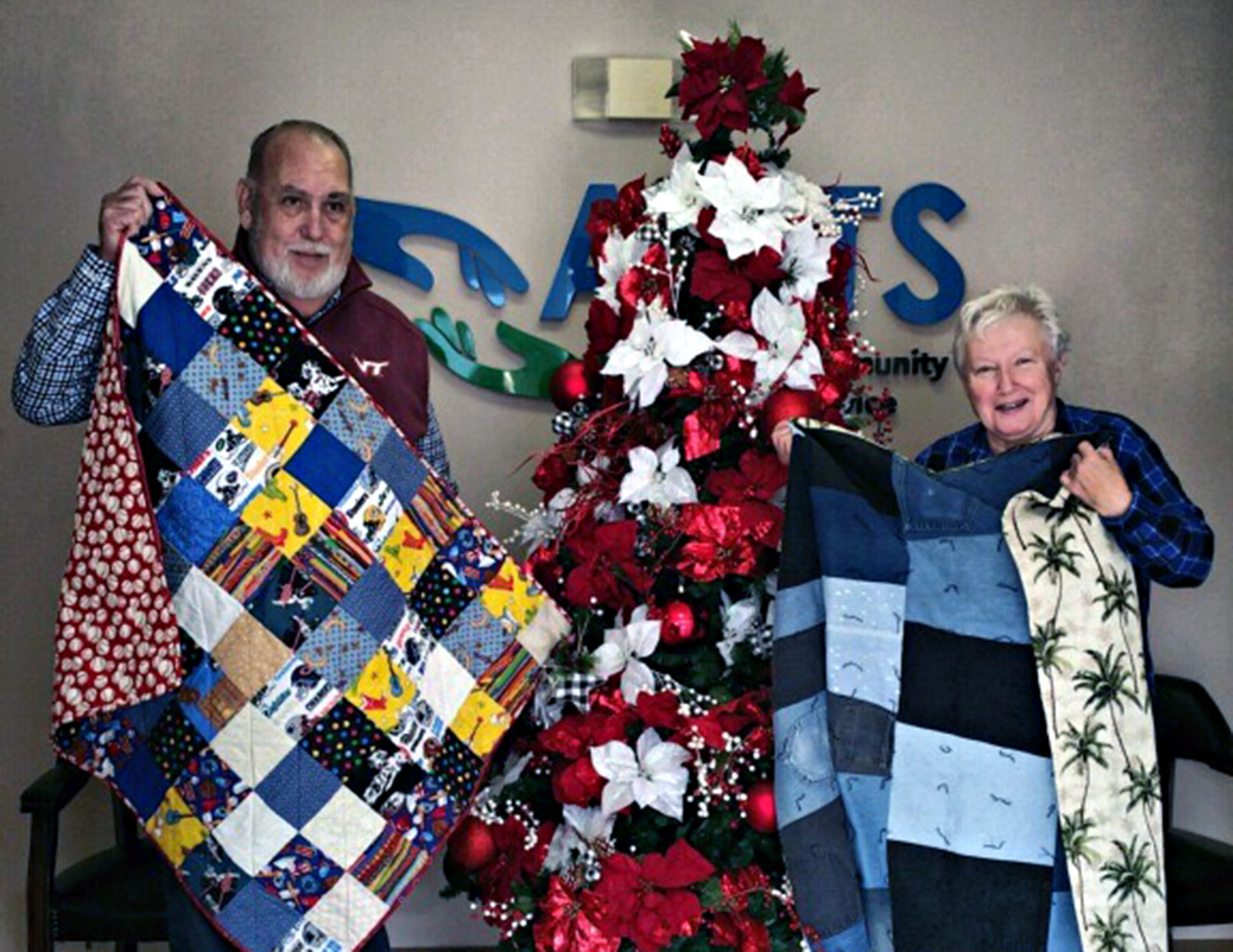 Cabin Branch Quilters donates quilts to non-profit