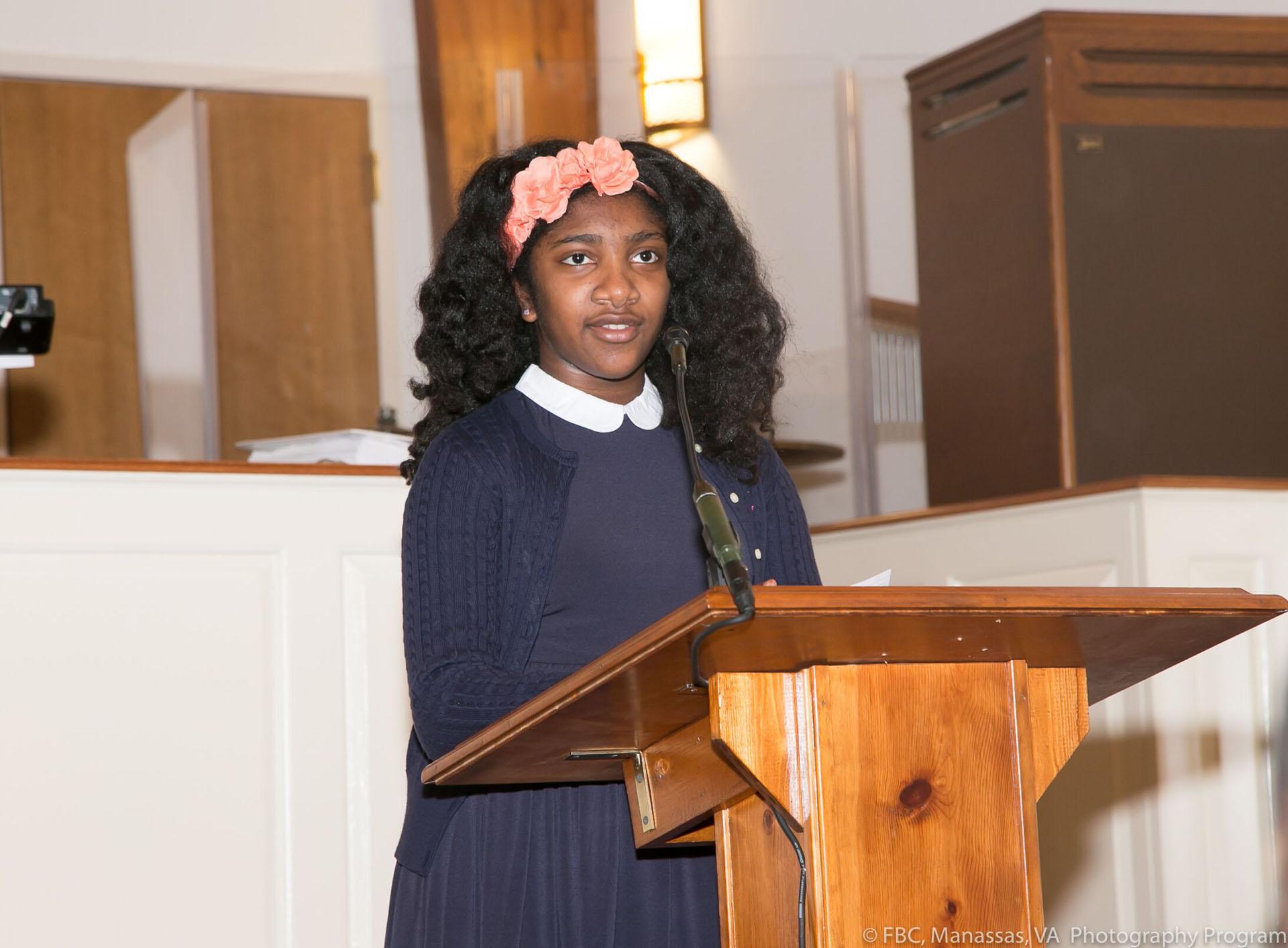 Youth debate taking place at Manassas church