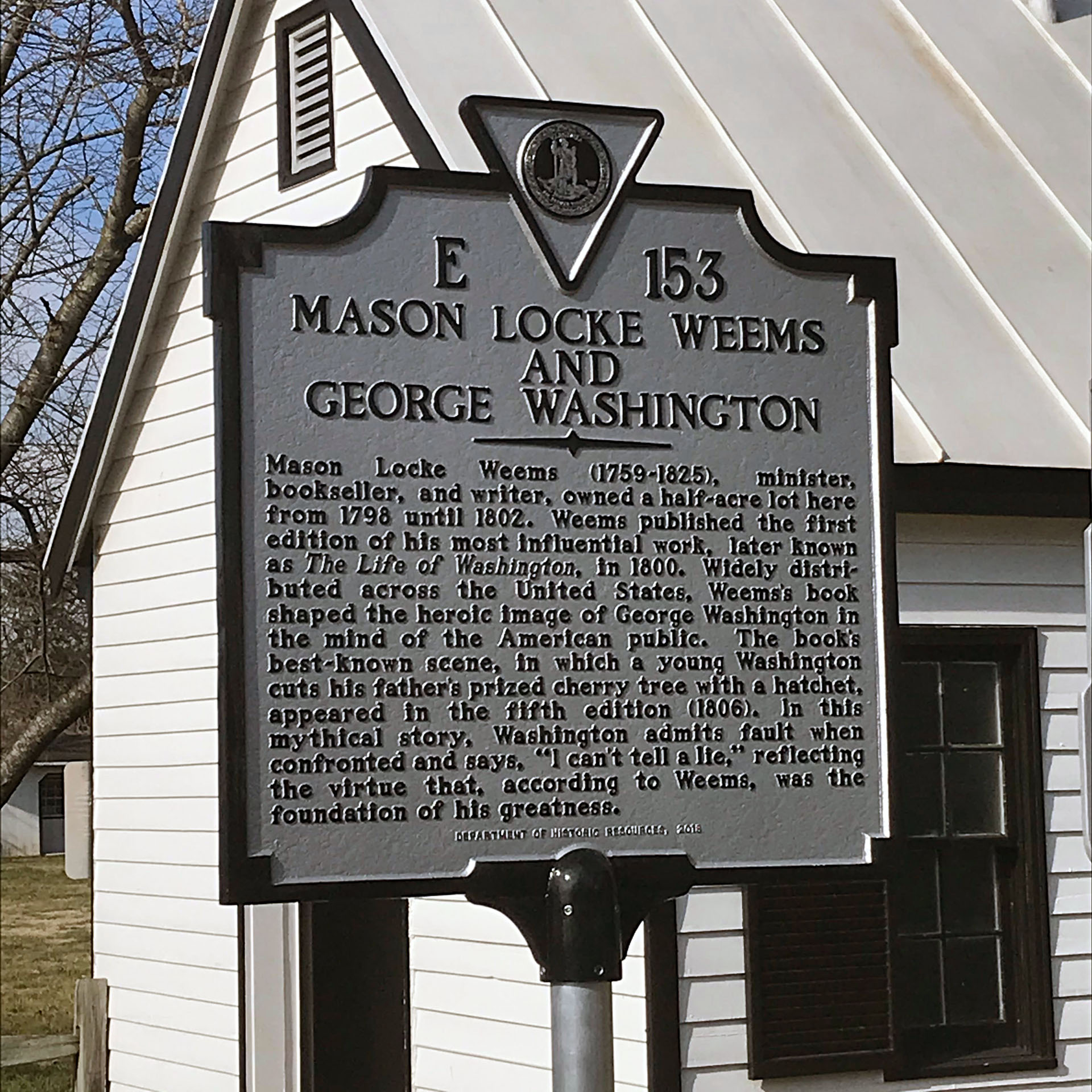 New historical marker features George Washington story