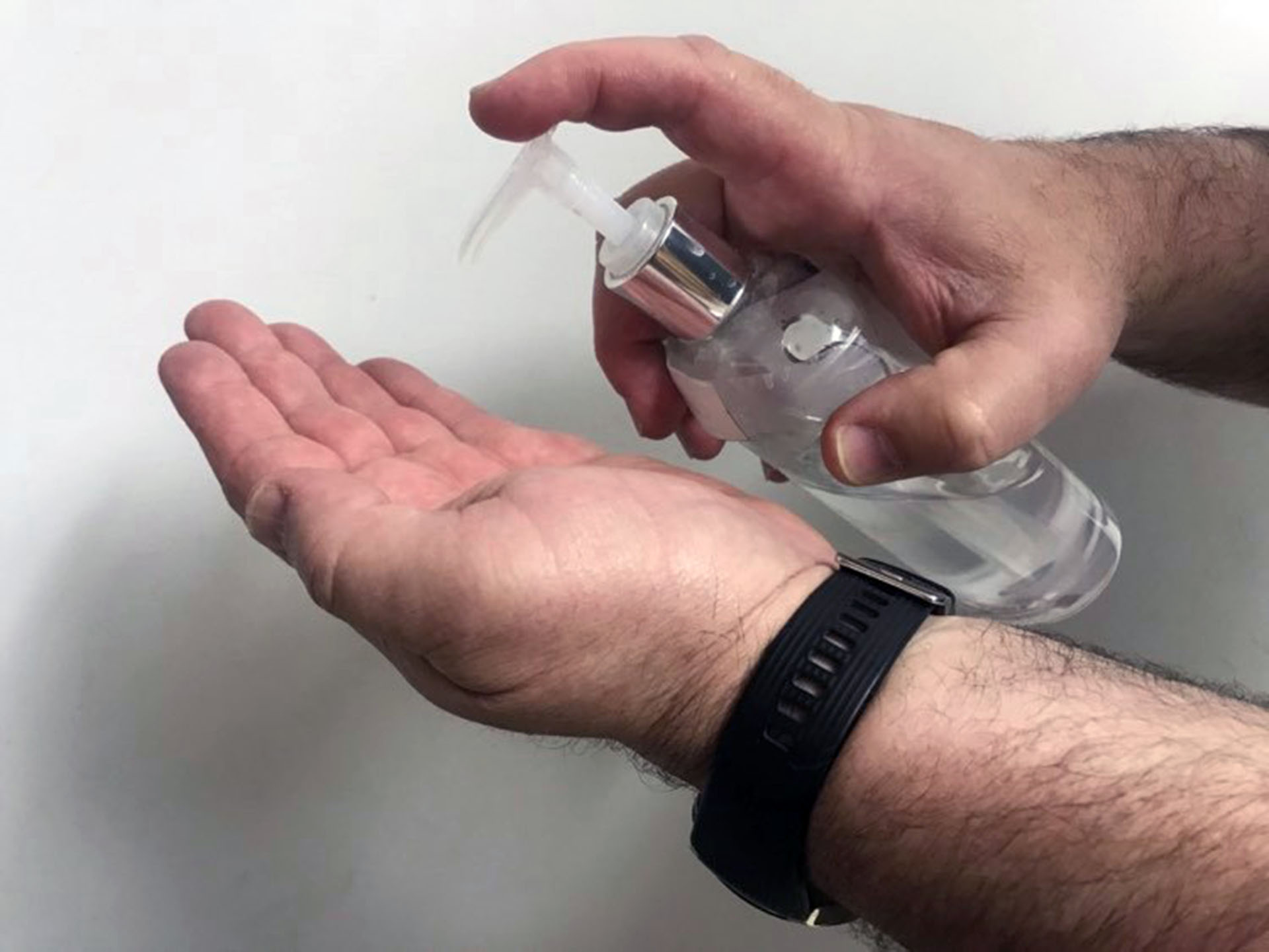 Hand sanitizer being produced for emergency personnel