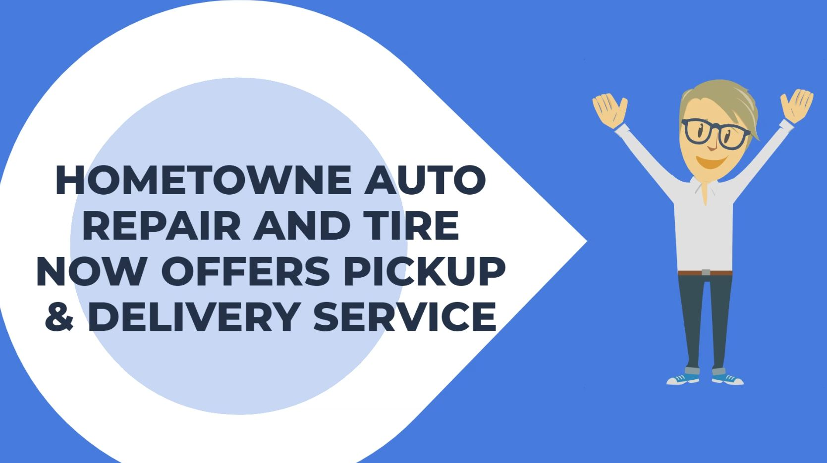 Pickup and delivery option through HomeTowne Auto Repair