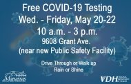 Free Coronavirus testing being offered in Manassas