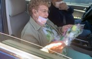 Masks, flowers handed out in Dumfries on Mother's Day