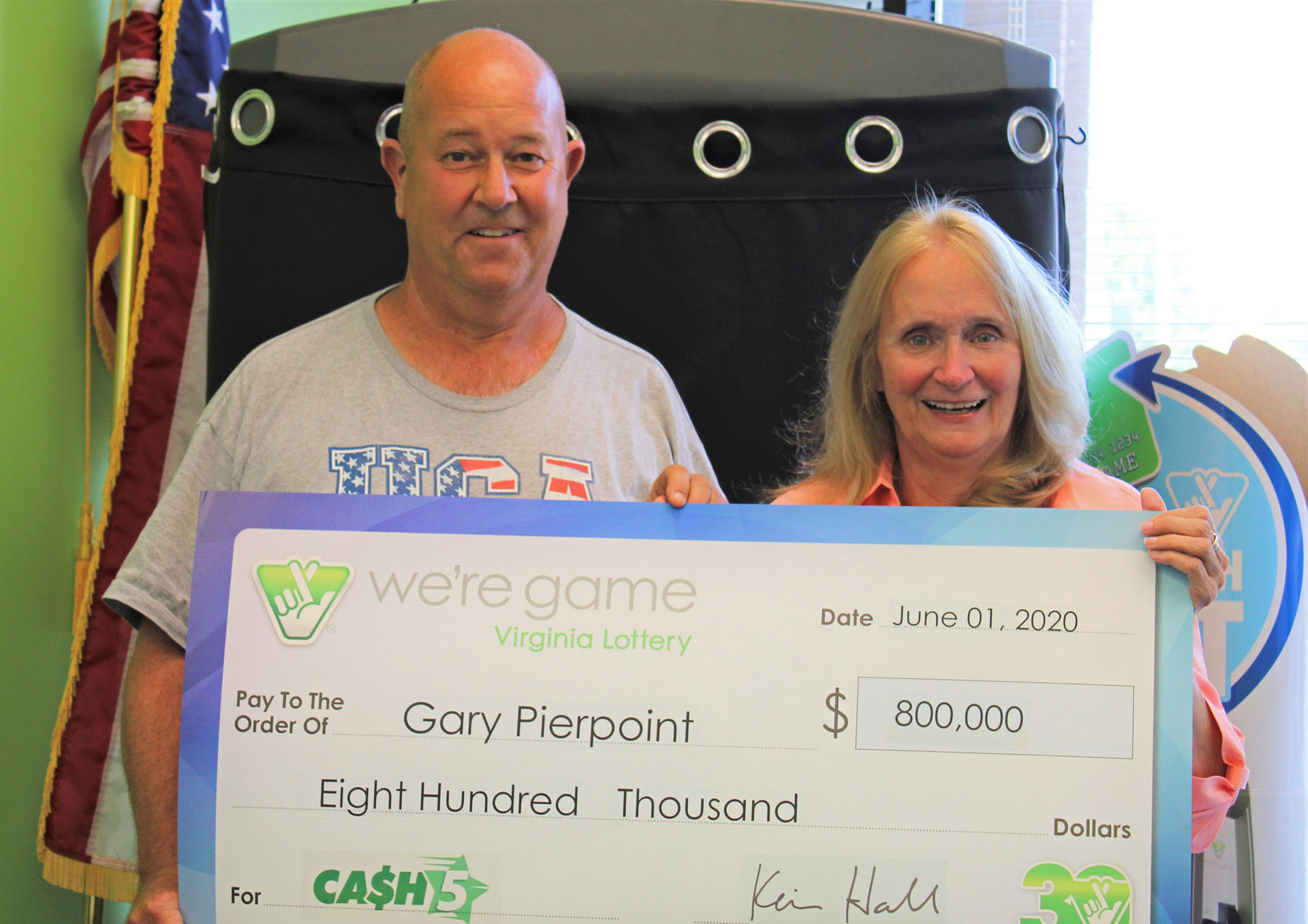 Woodbridge resident wins $800,000 from Virginia Lottery