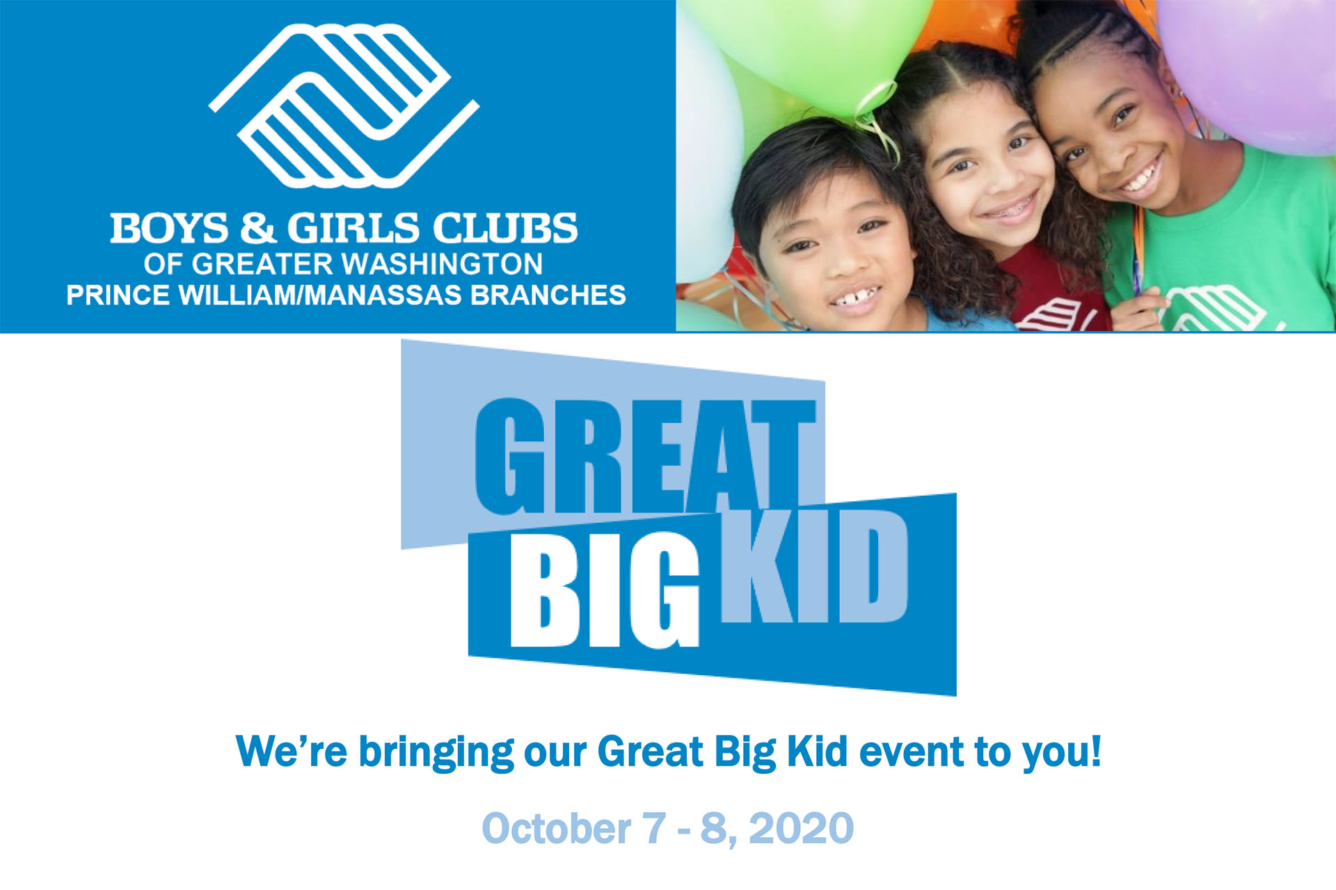Great Big Kid Event to be held by Boys & Girls Club