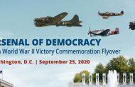 Flyover commemorating end of World War II