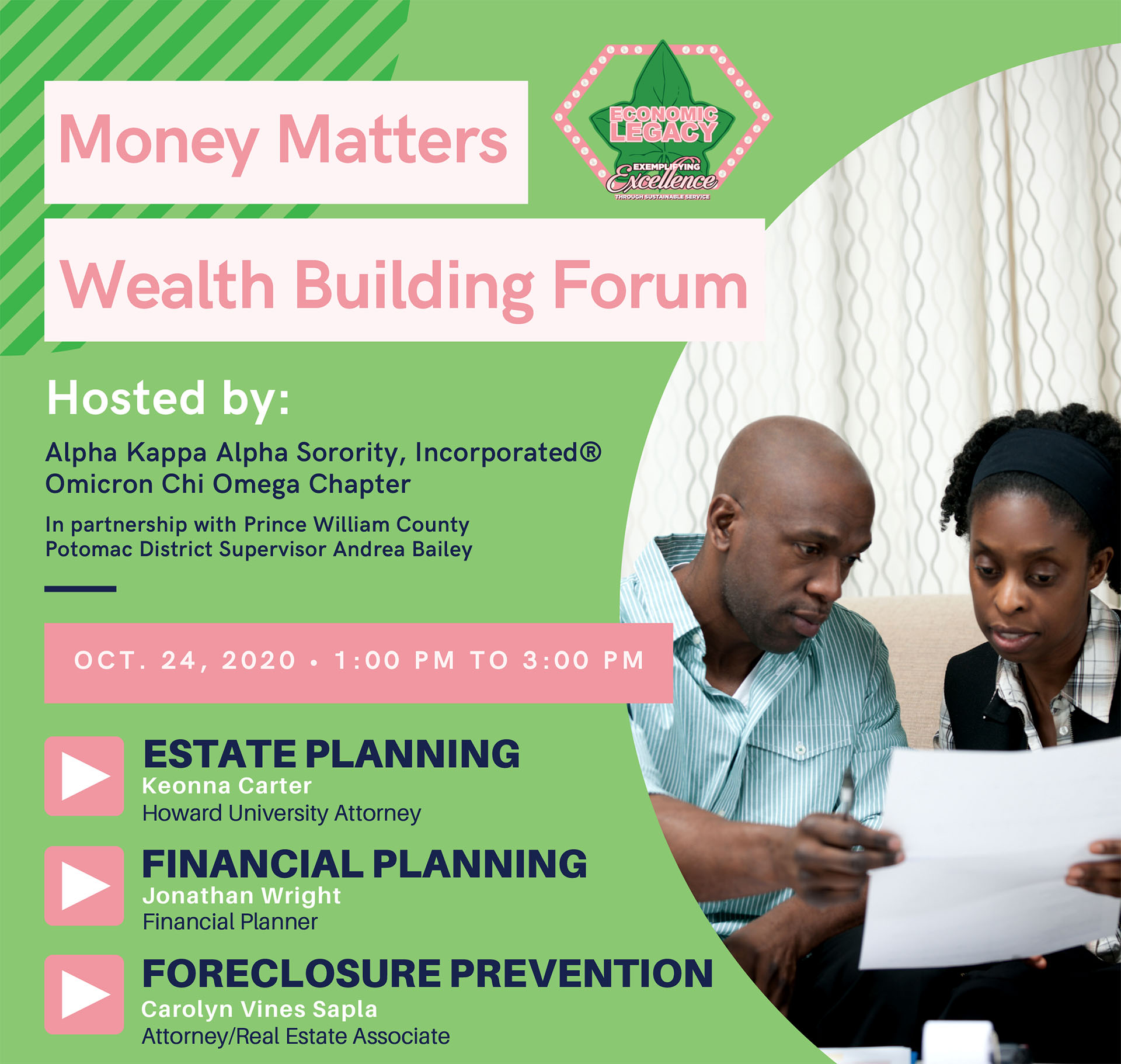 Money Matters forum to provide financial tools, resources