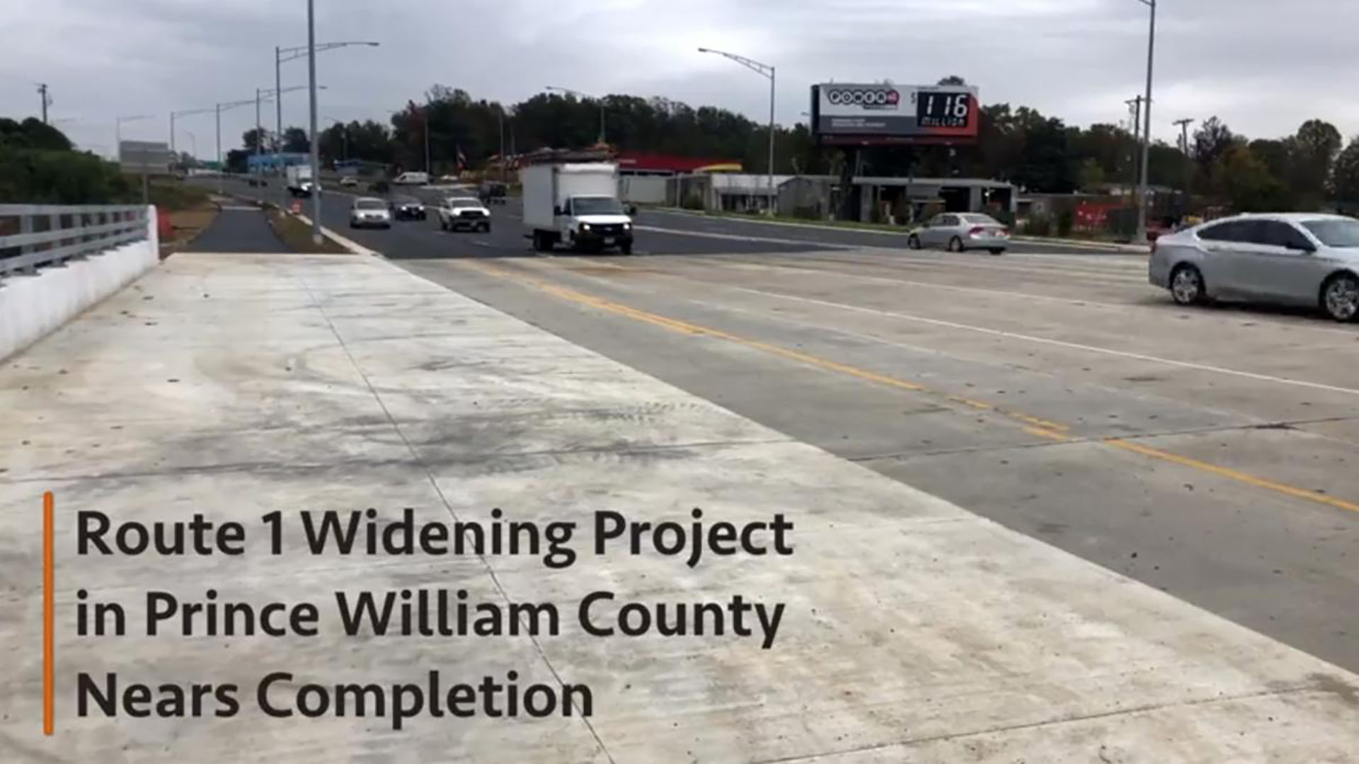 Route 1 updates in Woodbridge wrap up