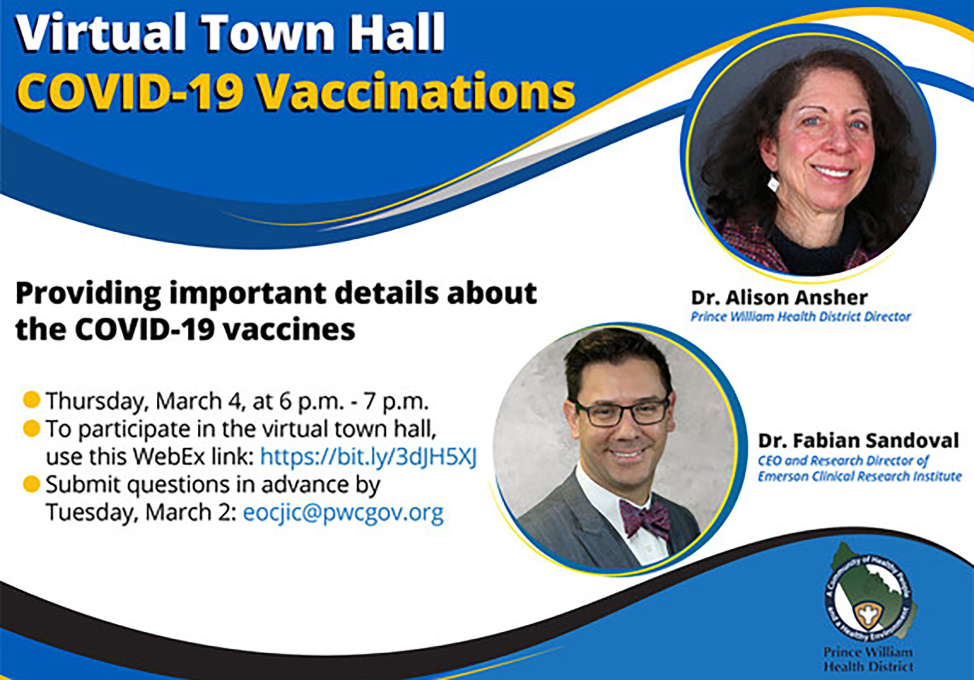 COVID-19 Vaccination Town Hall occurring March 4