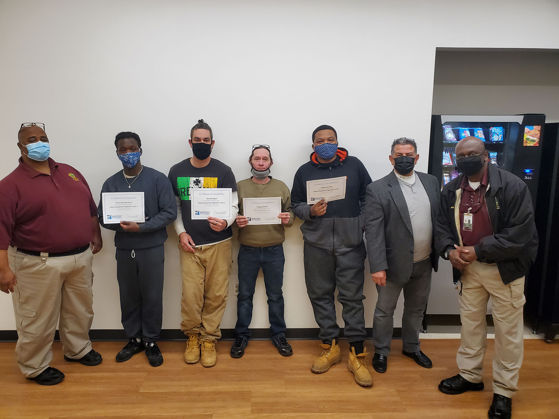Inmates complete Heavy Equipment Operator Program