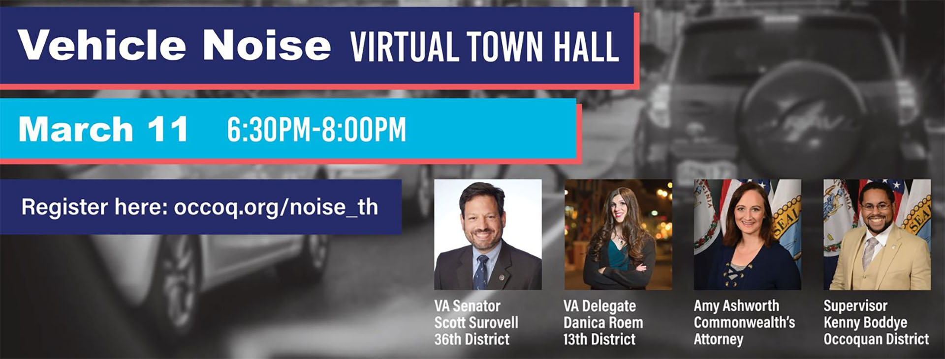 Vehicle noise to be discussed in virtual town hall
