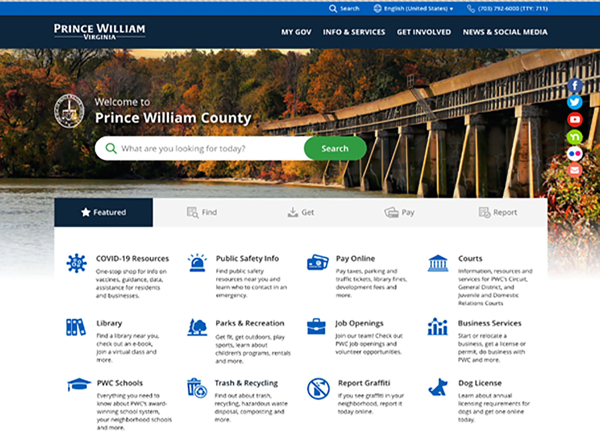 Prince William County creating new website