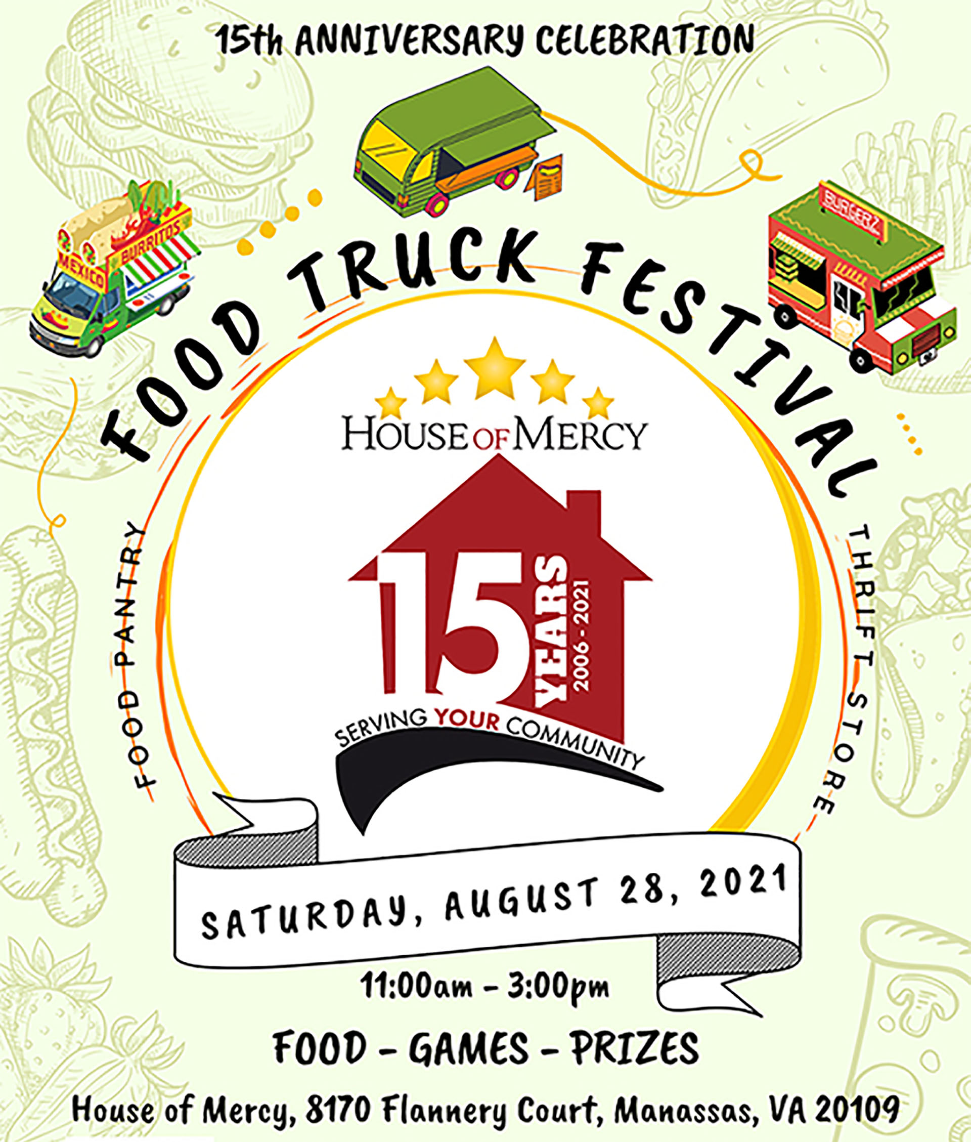 Food Truck Festival to be held by House of Mercy